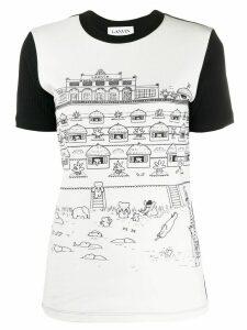 LANVIN Babar print two-tone T-shirt - White