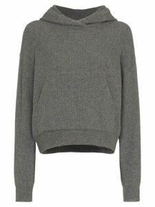 Nanushka Mog knit cashmere hoodie - Grey