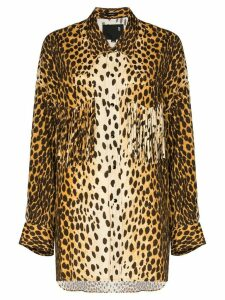 R13 Western fringed cheetah-print shirt - Brown