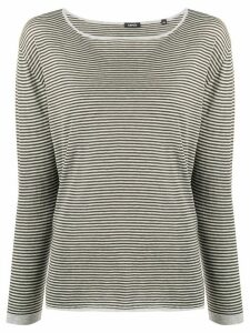 Aspesi knitted striped top - Grey