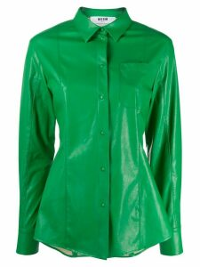 MSGM faux leather shirt - Green
