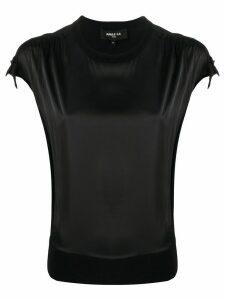 Paule Ka short-sleeve fitted top - Black