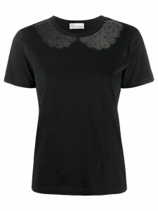 Red Valentino lace detail t-shirt - Black