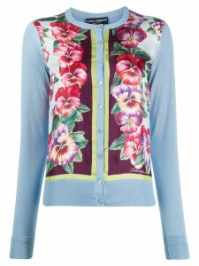 Dolce & Gabbana hibiscus print cardigan - Blue