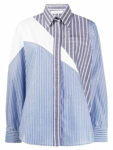 Cédric Charlier striped long-sleeve shirt - Blue