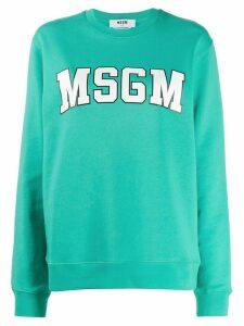 MSGM logo sweatshirt - Green
