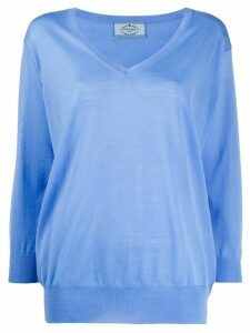 Prada long sleeve fine knit top - Blue