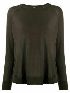 Aspesi long-sleeve flared jumper - Green