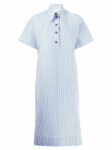 Cédric Charlier striped short-sleeve shirt dress - Blue