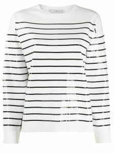 In The Mood For Love striped sequin jumper - White