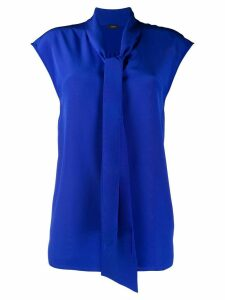 Joseph sleeveless neck-tied blouse - Blue
