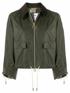 Barbour suede trim jacket - Green