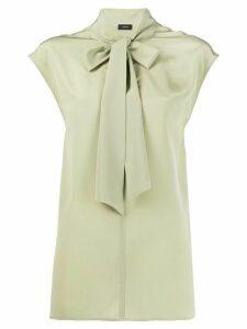 Joseph Nancy silk tie-neck blouse - Green