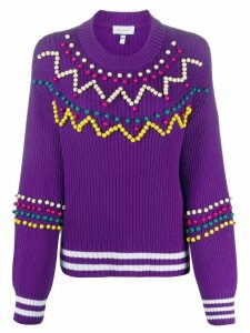 Mira Mikati bead-embellished jumper - PURPLE