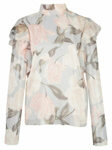 Jason Wu Collection floral frill blouse - Grey