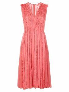 Jason Wu Collection ruffle pleat midi dress - PINK