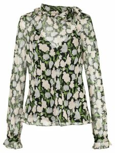 Jason Wu Collection sheer floral blouse - Black