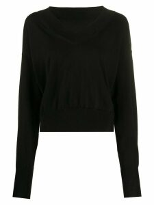 Maison Margiela side slits jumper - Black