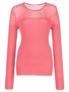 Jason Wu Collection fitted ribbed jumper - PINK