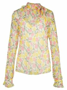 Jason Wu Collection sheer floral blouse - Yellow
