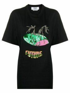 MSGM sequin embellished T-shirt - Black