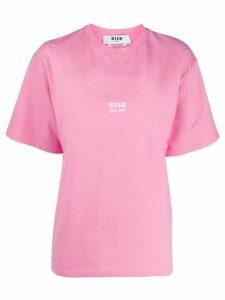 MSGM future print T-shirt - PINK