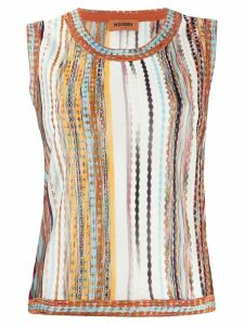 Missoni jacquard sleeveless jumper - White