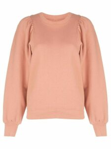 Citizens Of Humanity Mari Racer puff-sleeves sweatshirt - PINK