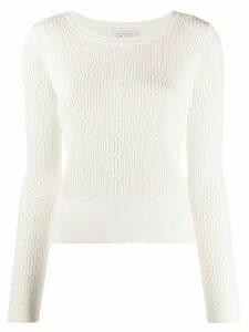 Patrizia Pepe floral knit top - White