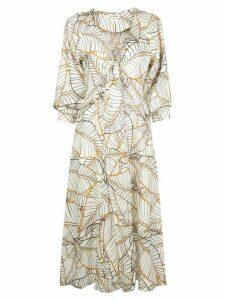 Nicholas Asilah Vintage Palm midi dress - White