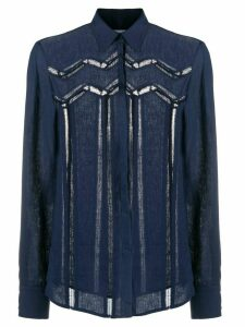 Gabriela Hearst embroidered lace shirt - Blue