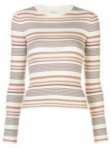 FRAME striped ribbed pullover - White