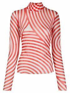 Henrik Vibskov striped roll neck top - White