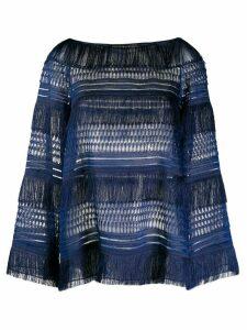 Alberta Ferretti fringe detail blouse - Blue