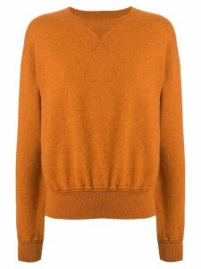 Coohem knitted crew neck jumper - Brown