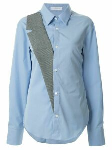 Delada tailored lapel hybrid shirt - Blue