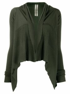 Rick Owens cropped waterfall cardigan - Green