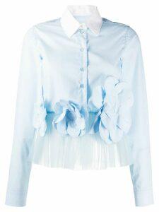 Viktor & Rolf Flower Power cropped shirt - Blue
