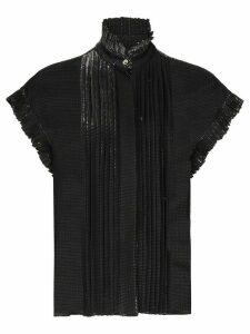 Alexandre Vauthier cap-sleeve ruffled blouse - Black