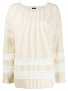 Joseph striped oversized jumper - NEUTRALS