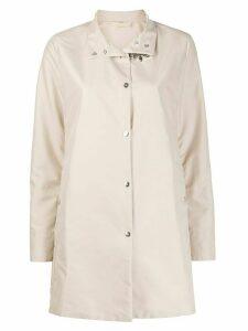 Fay high-neck clasp-fastening parka coat - NEUTRALS