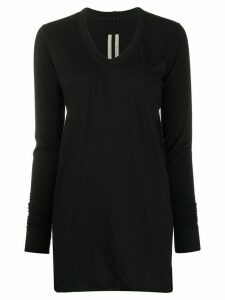 Rick Owens long-sleeve fitted jumper - Black