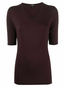 Aspesi v-neck fitted T-shirt - Red