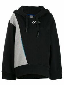 Omc contrast panel hoodie - Black