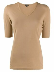 Aspesi v-neck fitted T-shirt - NEUTRALS