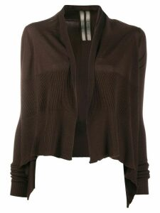 Rick Owens cropped waterfall cardigan - Brown