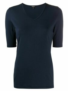 Aspesi v-neck fitted T-shirt - Blue