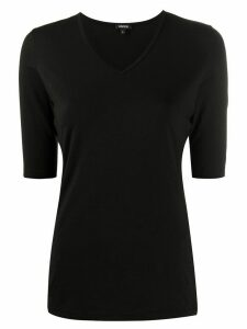 Aspesi v-neck fitted T-shirt - Black