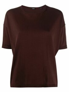 Aspesi plain relaxed jumper - Red