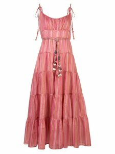 Zimmermann Bonita tied-straps dress - PINK